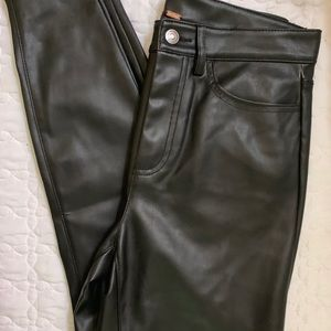 Free People Faux Leather  Pants Size 29